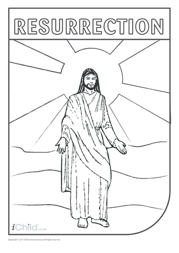 Thumbnail image for the Resurrection of Jesus Colouring in picture activity.