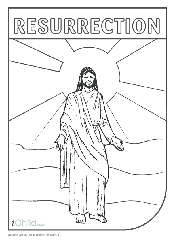 Resurrection of Jesus Colouring in picture