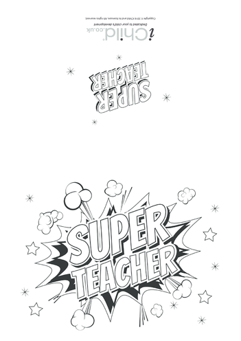 Thumbnail image for the Super Teacher Card activity.