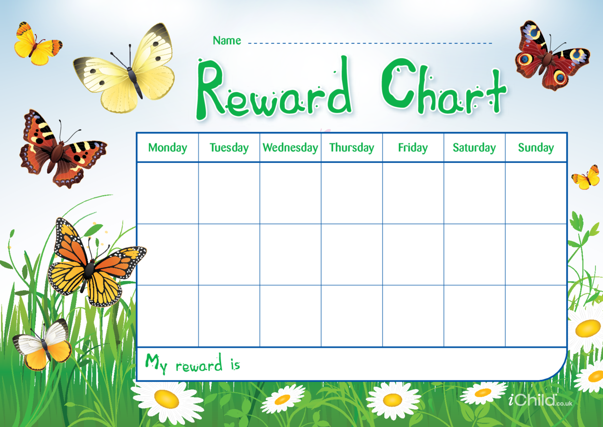 Butterfly Reward Chart