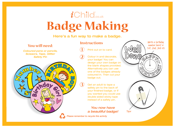 Thumbnail image for the Badge Making activity.