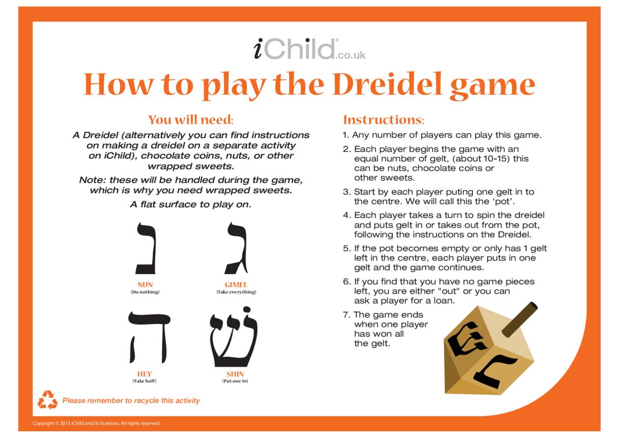 Dreidel Game Instructions