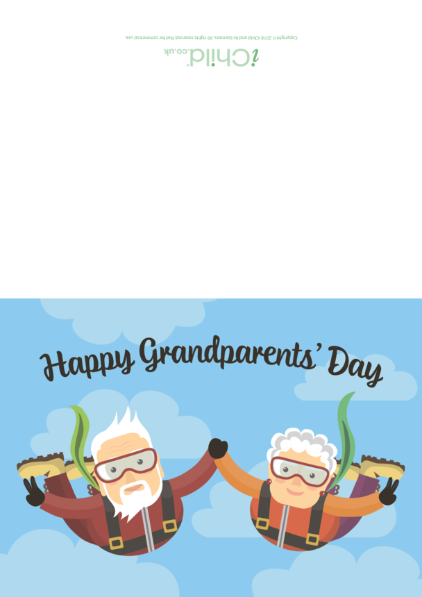 Grandparents' Day Card (Skydivers!)