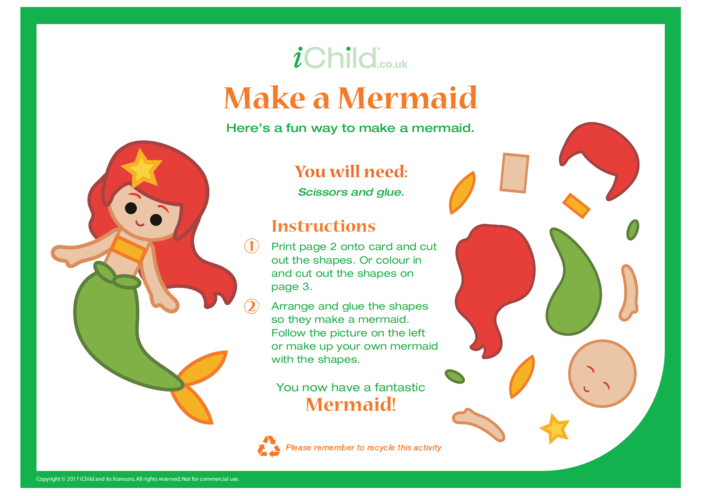 Thumbnail image for the Make a Mermaid Craft activity.