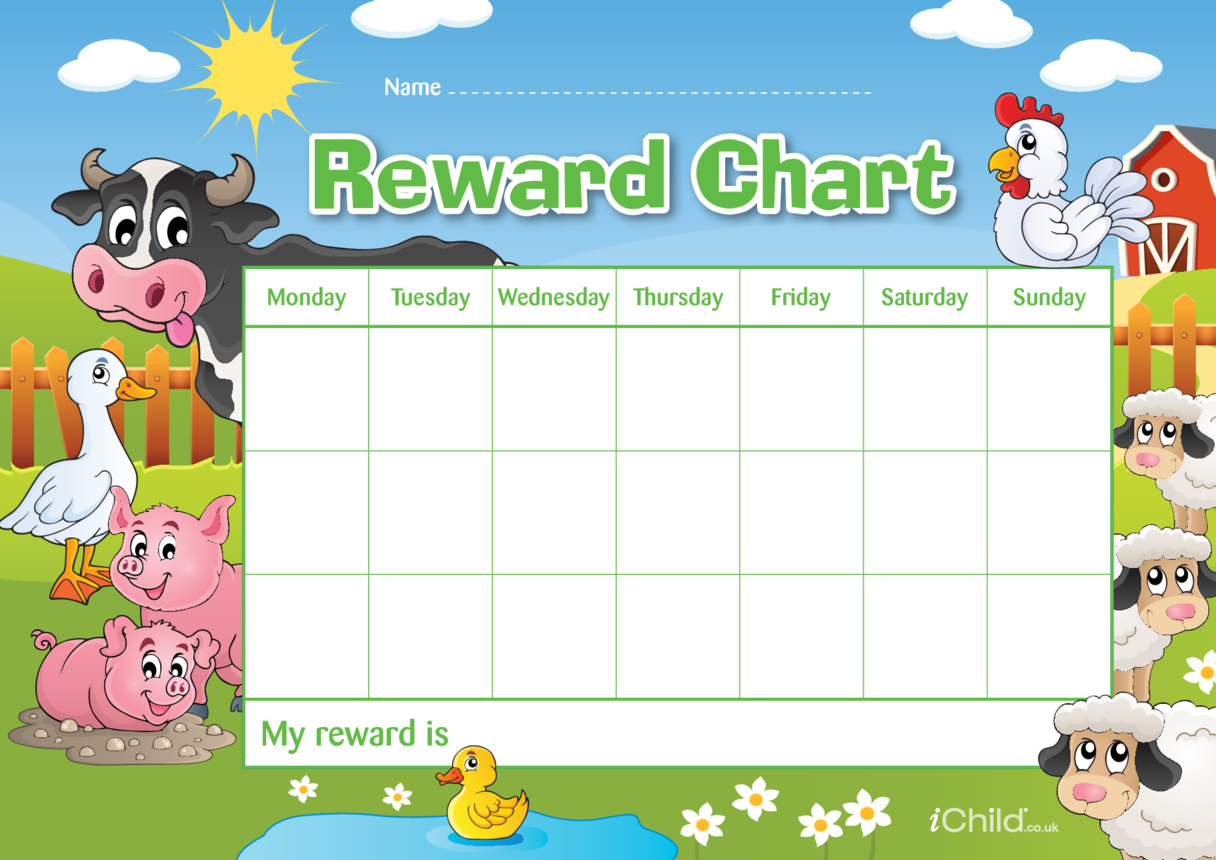 Farm Animals Reward Chart