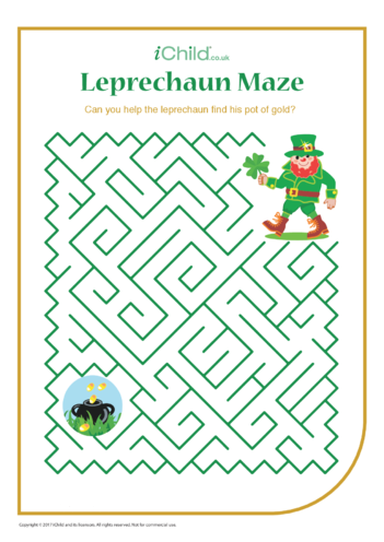 Thumbnail image for the Leprechaun Maze activity.