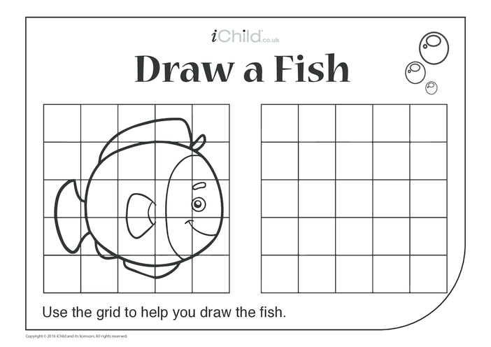 Thumbnail image for the Draw a Fish activity.