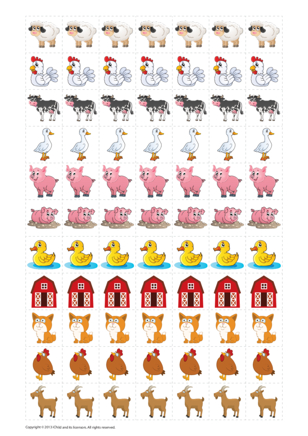 Farm Animals Reward Chart Stickers