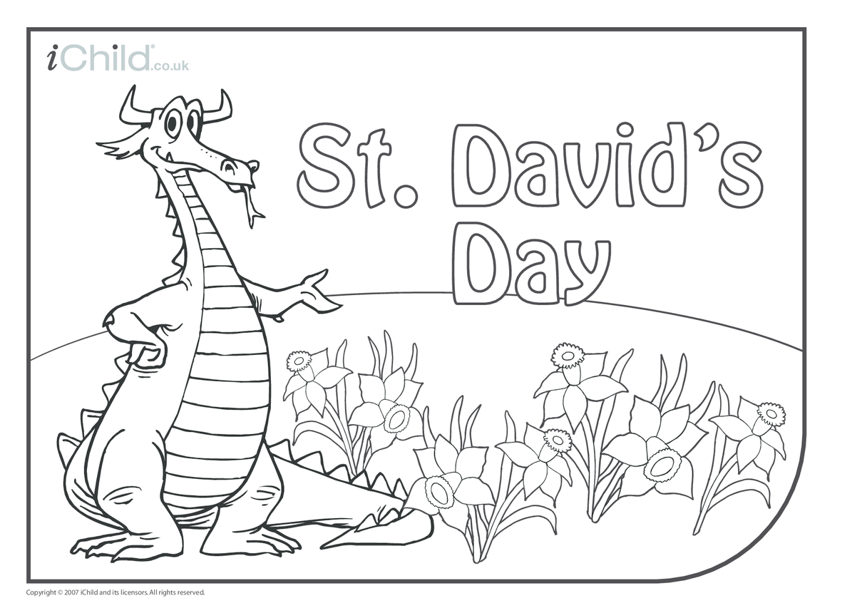 St. David's Day Colouring in picture