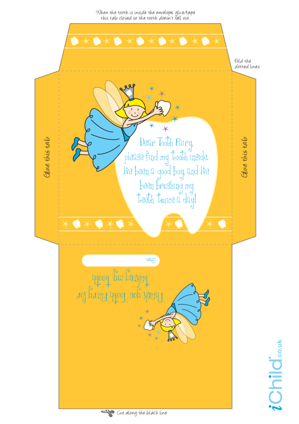 Envelope for Tooth Fairy (Blue fairy)
