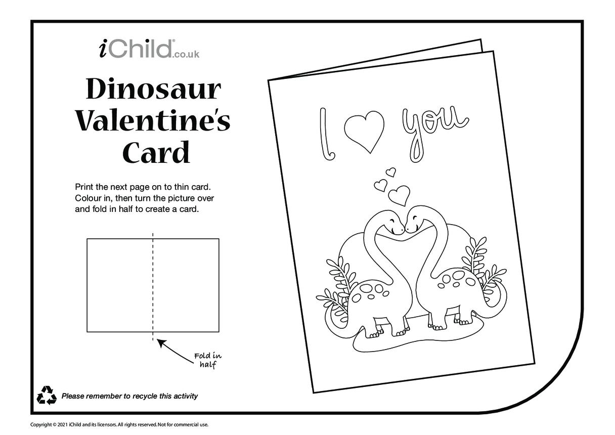Dinosaur Valentine's Card