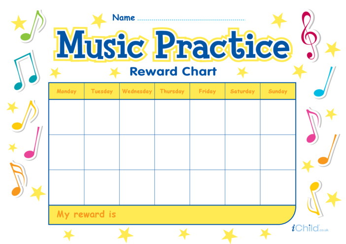 Thumbnail image for the Music Practice Reward Chart activity.