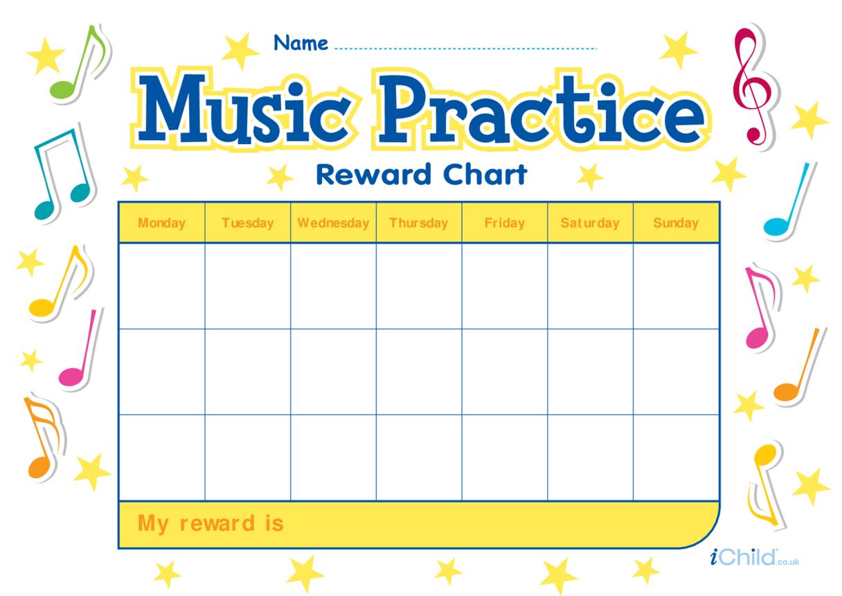 Music Practice Reward Chart