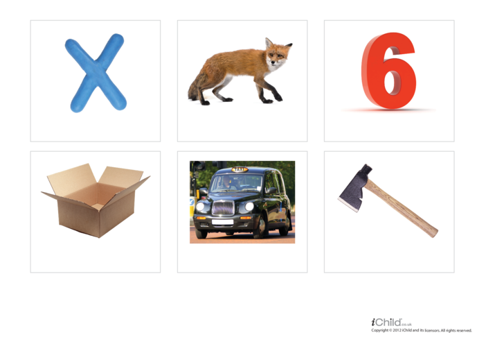 Thumbnail image for the Letter of the Alphabet: X - Photo Flashcard activity.