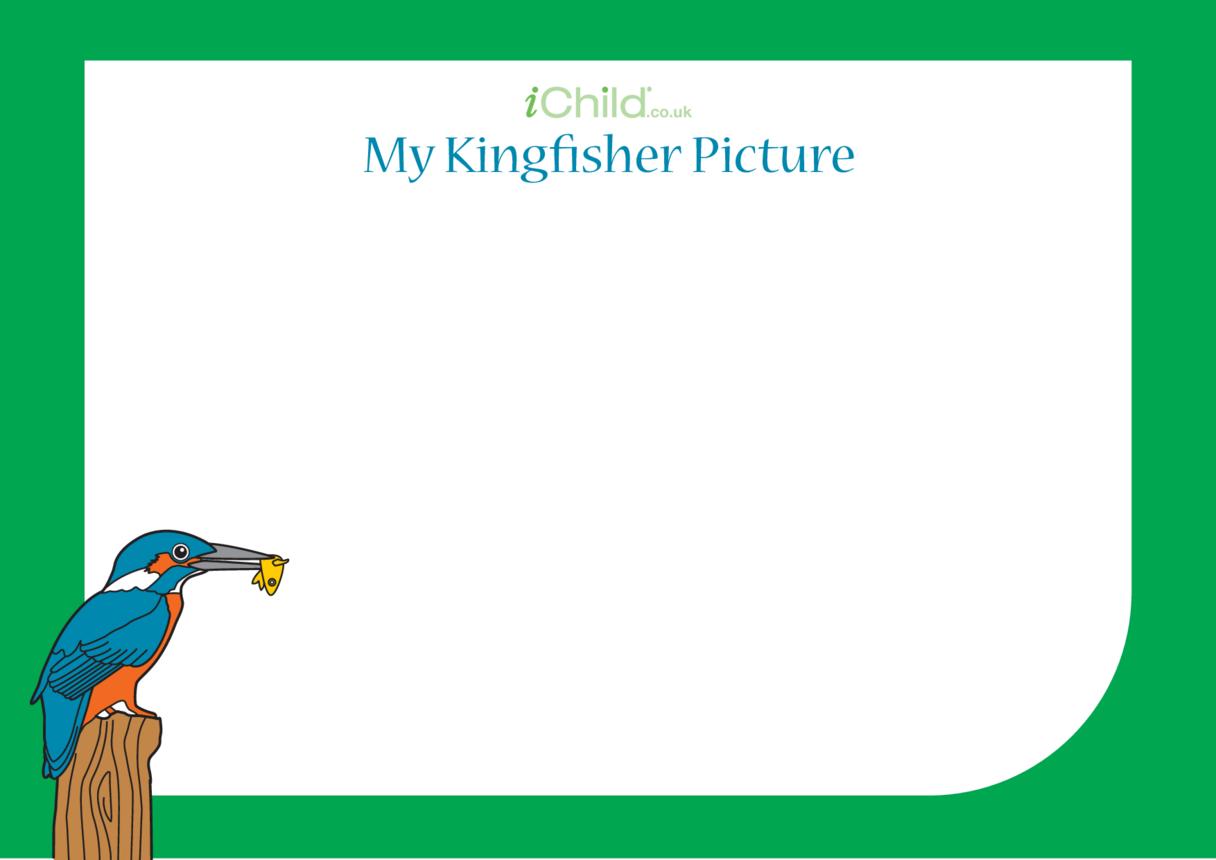 Kingfisher drawing template