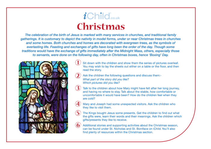 Thumbnail image for the Christmas Religious Festival Story activity.