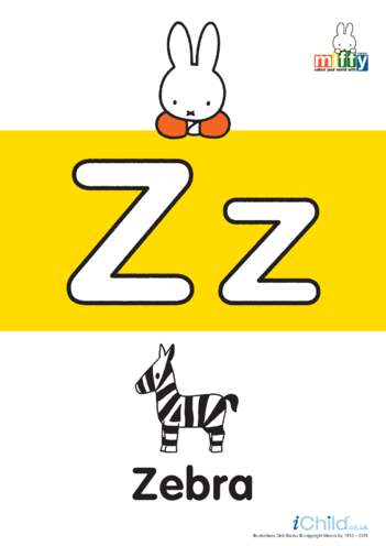 Thumbnail image for the Z: Miffy's Letter Zz activity.