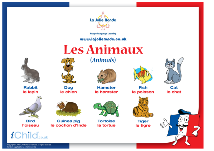 Thumbnail image for the Animals in French activity.