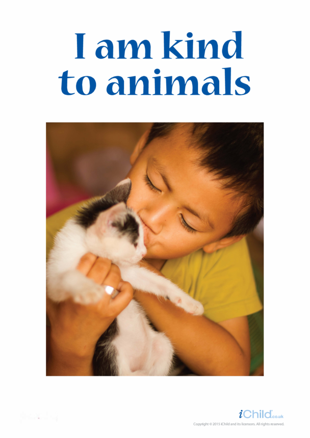 I am Kind to Animals Poster