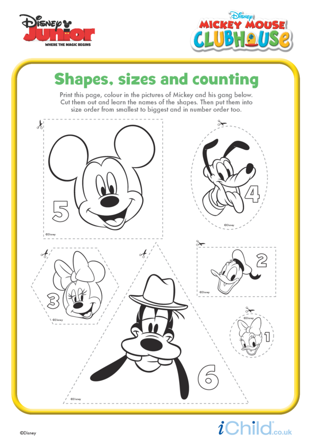 Mickey Mouse Clubhouse: Shapes, sizes and counting- Disney Junior
