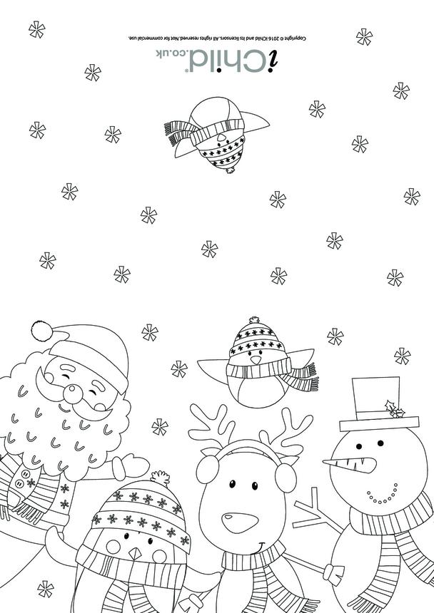 Christmas Card - Santa & Friends