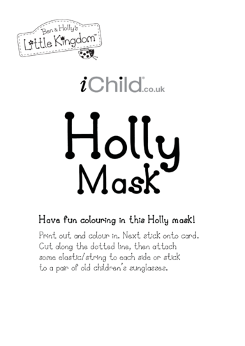 Thumbnail image for the Face Mask: Holly activity.