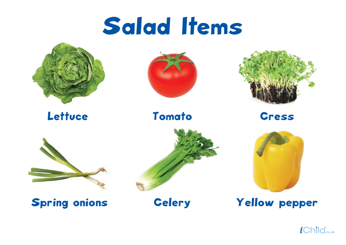 Salad Items Poster
