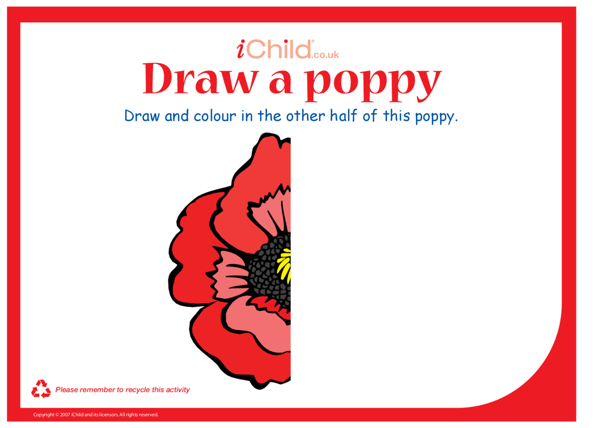 Poppy Colouring in picture