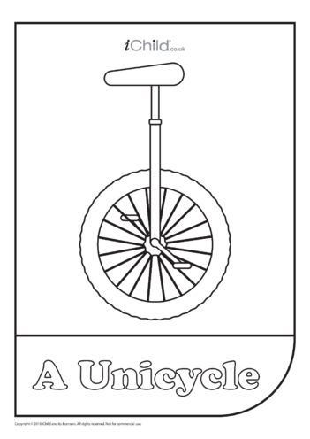 Thumbnail image for the Unicycle Colouring in Picture activity.