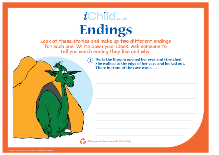 Thumbnail image for the Endings activity.