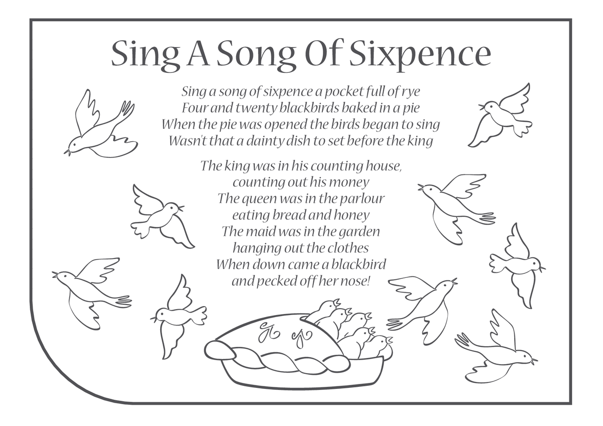 Sing a Song of Sixpence Lyrics