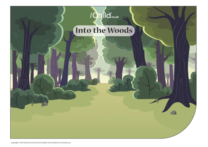Thumbnail image for the Into the Woods Sticker Scene Craft activity.