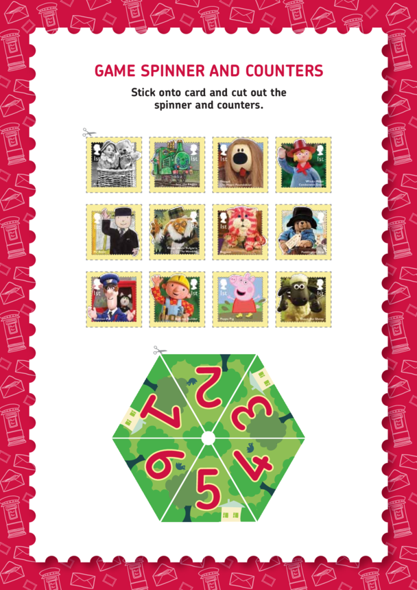 Posting a Letter Game Spinner And Counters (EYFS/KS1)