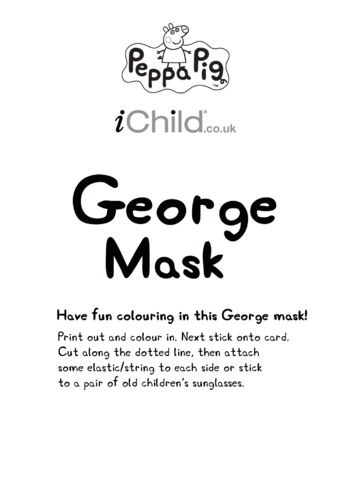 Thumbnail image for the Face Mask: George activity.