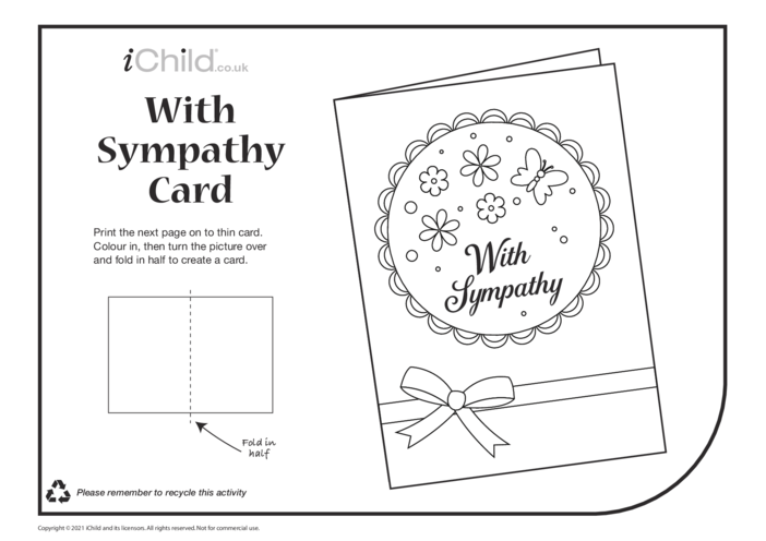 Thumbnail image for the Sympathy Card (black & white) activity.