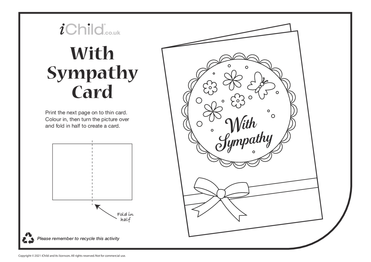 Sympathy Card (black & white)