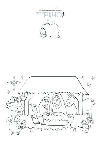 Thumbnail image for the Christmas Card- Nativity activity.