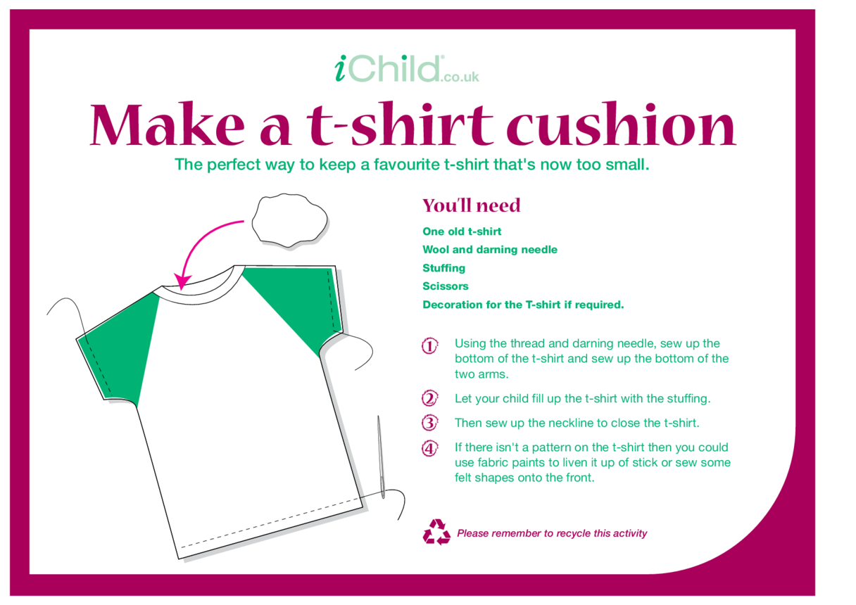 Make a T-Shirt Cushion