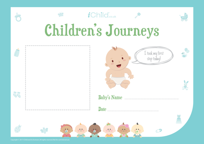 Thumbnail image for the Children's Journeys: My First Step (blue form) activity.