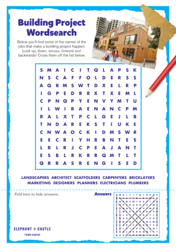 Thumbnail image for the Elephant & Castle Activity: Wordsearch activity.