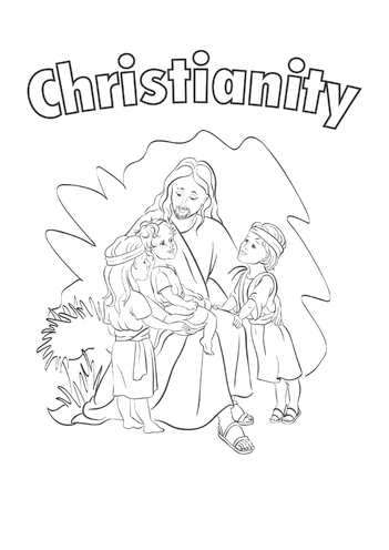 Thumbnail image for the Christianity (black & white) - Signs & Posters activity.