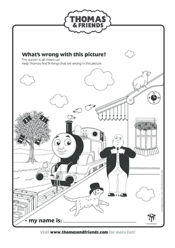 Thumbnail image for the What's Wrong? (Thomas & Friends) activity.
