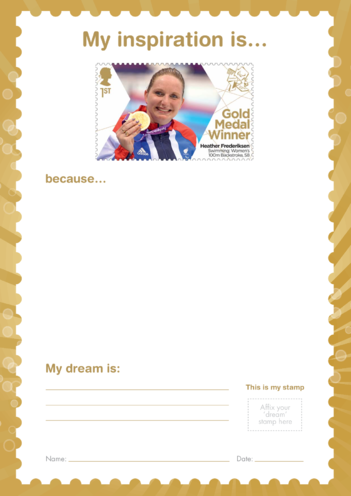 Thumbnail image for the My Inspiration Is- Heather Frederiksen- Gold Medal Winner Stamp Template activity.