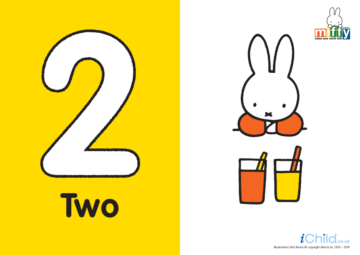 Number 2 with Miffy