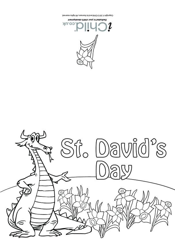 St. David's Day Card (dragon)