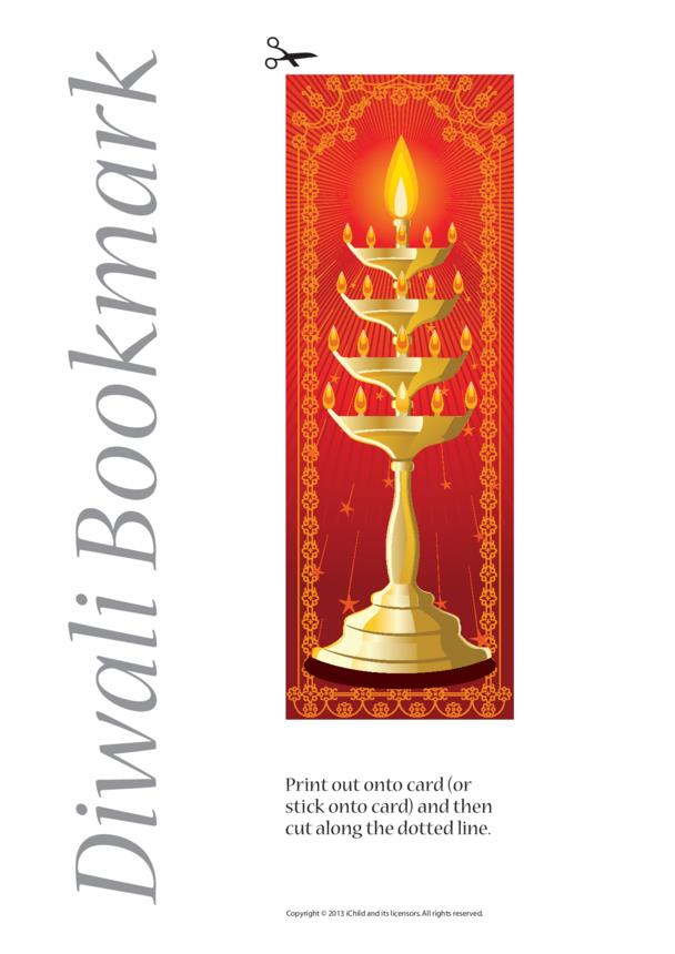 Diwali Bookmark- Red/Orange