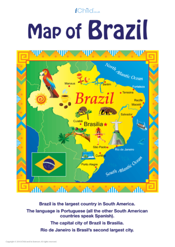 Thumbnail image for the Map of Brazil activity.