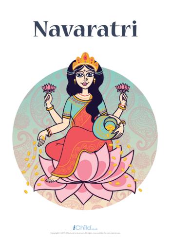 Thumbnail image for the Navaratri Poster Colour activity.