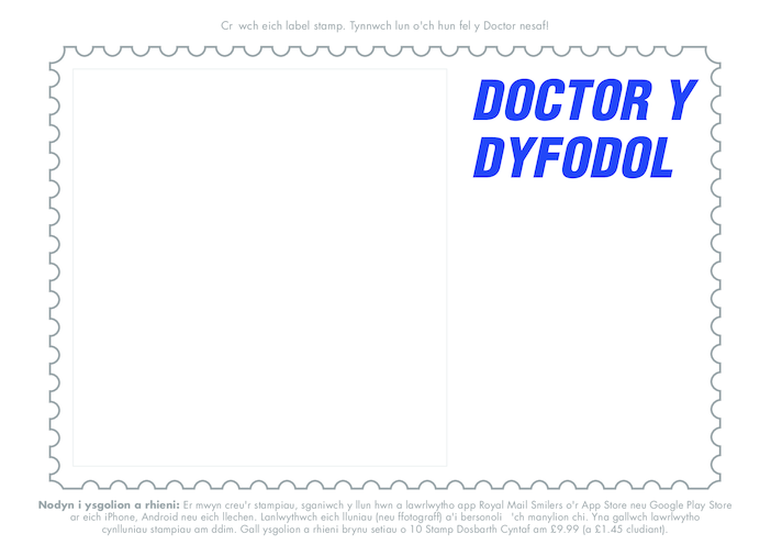 Thumbnail image for the Welsh Language, Primary 1) Time Travel- The Future Doctor Drawing Template activity.