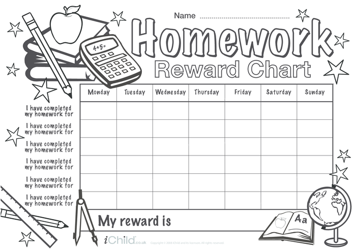 Thumbnail image for the Homework Reward Chart activity.